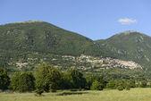Poggio Bustone form west, Rieti valley — Stock Photo
