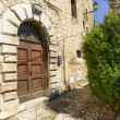 Old arched portal at Labro, Rieti — Stock Photo