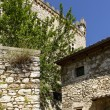 Stone buildings and castle at Labro, Rieti — Stock Photo
