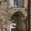 Arched stone passage at Labro, Rieti — Stock Photo