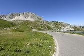 Mountain road to Leonessa on Terminillo eastern side, Rieti — Foto Stock