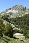 Leonessa road bends on north eastern side of Terminllo, Rieti — Foto Stock