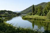 Piediluco canal toward Marmore falls, Rieti — Zdjęcie stockowe
