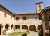 Fonte Colombo Franciscan monastery cloister, Rieti — Stock Photo