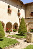 Cloister at La Foresta Franciscan monastery , Rieti — Stock Photo