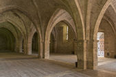 Vaulted ground floor of Episcopal Palace, Rieti — Stock Photo