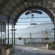 Stock Photo: Ferry station loggia, Bellagio