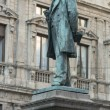 Stock Photo: Manzoni monument in SFedele square, Milan