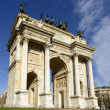 Stock Photo: Arco dellPace view, Milan