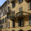 Stock Photo: Old houses in Garibaldi street, Milan