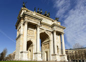 Arco della Pace view, Milan — Stock Photo