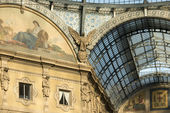 Galleria ironworks and glass roof, Milan — Stock Photo