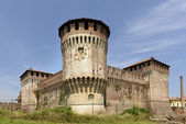 Castle view from south west, Soncino  — Stock Photo