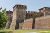 Castle view from south east, Soncino  — Stock Photo