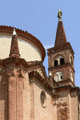 Pieve santa maria assunta zvonice, soncino — Stock fotografie