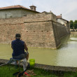 Rod fishing at Visconteo Castle moat, Pagazzano — Stock Photo #50518983