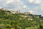 High town skyline from west, Bergamo — Stock Photo