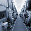Rows of seats on airplane — Stock Photo #12073234