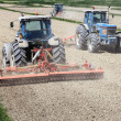 Stock Photo: Tractors farming