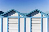Beach hut in Rimini, Italy — Stock Photo