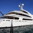 Luxury yacht in harbor — Stock Photo