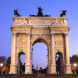 Arco della pace. Milan, Italy — Stock Photo