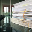 Stack of documents or files in office desk — Stock Photo #12080787