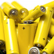 Yellow alkaline batteries — Stock Photo #12083982