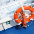 Lafe buoy on ship — Stock Photo