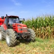 Stock Photo: Agriculture, farming tractor
