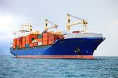 грузовой контейнер корабль — Стоковое фото
