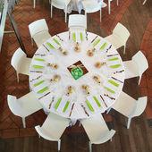 Rstaurant table — Стоковое фото