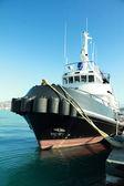 Tug boat on harbor — Stock Photo