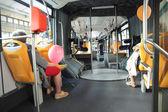 Inside urban bus — Stock Photo