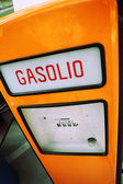 Italian vintage diesel pump — Stock Photo
