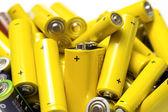 Yellow alkaline batteries — Stock Photo