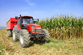 Agriculture, farming tractor — Stock Photo