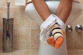 Little child in toilet — Stock Photo