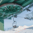 Chairlift with snow in Madesimo, Italy - Stock Photo
