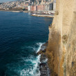 Naples from castel dell ovo, Italy - Stock Photo