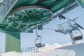 Chairlift with snow in Madesimo, Italy — 图库照片