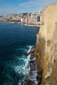 Naples from castel dell ovo, Italy — Stock Photo