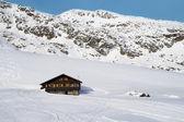 Mountain chalet in italian alps — Stock Photo
