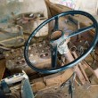 Rusty interior of old truck - Stock Photo