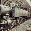 Vintage steam train - Stock Photo