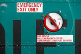 Helicopter Emergency Exit — Stock Photo