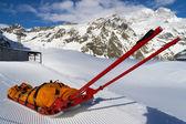 Rescue emergency sled on mountain — Stock Photo