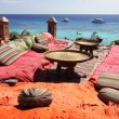 Stock Photo: Lounge on sharm beach