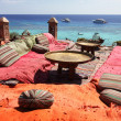 Lounge on sharm beach - Stock Photo