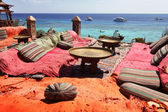 Lounge on sharm beach — Stockfoto